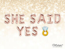 SHE SAID YES rose gold balloons hen party engaged proposal balloon garland