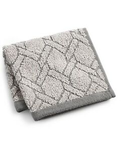 Hotel Collection Ultimate MicroCotton Sculpted Fashion Cotton Wash Towel - Gray