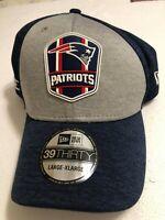 New England Patriots Hat NFL Official On Field New Era Flex Fit Stretch Cap New