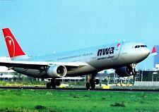 Northwest Airlines , Airbus A330-323X, Ansichtskarte
