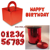 RED FOIL BALLOONS CAKE BOX BALOON WEIGHT HAPPY BIRTHDAY FOIL BALLON