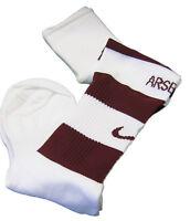 New NIKE ARSENAL A Grade Football Socks Claret White Youth UK 2.5-7 Eur 35.5 -41