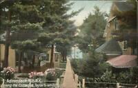 Adirondacks Cottages at Taylor's on Schoroon c1910 Postcard