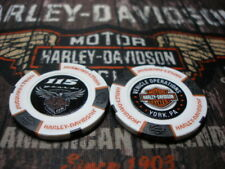 White Black Orange 115th Anniversary Poker Chip Harley Davidson York, PA Factory