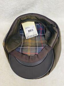 NWT Barbour Men's Newsboy Hat Brown Olive Plaid MHA0182 Bedale Flat Cap (Sz L)