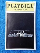 Titanic - Lunt-Fontanne Playbill w/Ticket - May 24th, 1997 - Becky Ann Baker