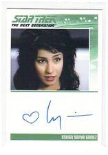 Star Trek the Next Generation Lycia Naff as Ensign Sonia Gomez auto card