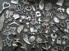 100g Antique Silver Charm Mix Steampunk Vintage Pendants Kitsch
