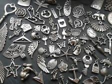 100g Antique Silver Charm Mix Steampunk Vintage Pendants Kitsch