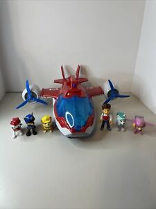Paw Patrol Air Patroller Cargo Plane Helicopter Toy Lights Sounds robo figures