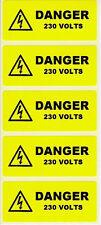 Le etichette di Electrical - 50 pericolo 230V 70 x 30mm jpslabel16
