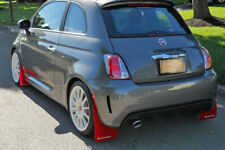 RALLYARMOR 2012-2018 FIAT 500 RALLY ARMOR UR MUD FLAPS RED WITH WHITE LOGO