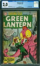 Showcase #24 CGC 2.0 DC 1960 3rd Green Lantern! Key Silver Age! L9 217 22 cm