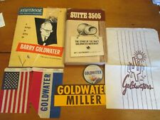 New listing Barry Goldwater Memorabilia Lot Books Campaign Button Book 3505 Pin Flag