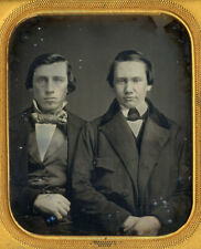 Two 1850s Young Male Friends Intimately Posed 1/6 Plate Daguerreotype