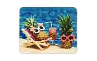 Pineapple Holiday Mouse Mat Pad - Funny Joke Summer Fruit Computer Gift #12316