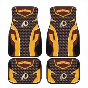 Washington Redskins Universal Car Front/Rear Floor Rugs Car Floor Mats 2/4 PCS