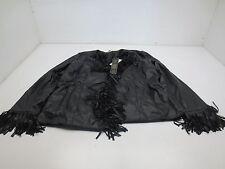 DG2 Faux Leather Fringe Jacket - Medium - Black