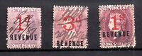 St Vincent QV 1d, 3d & 1s used Revenue collection WS21548