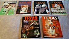 Six 1990s Texas Longhorns Football Media Guides  -1990,1993,1994,1995,1997,1998-