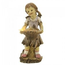 Cute Gifts for Gardeners Lawn Ornaments Decor Little Girl Solar Powered Lights