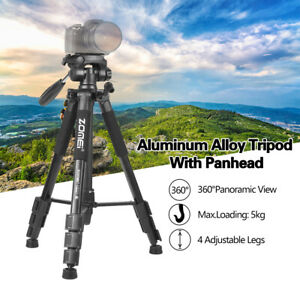 ZOMEI Q111 Light Weight Tripod Stand Kit 4-Section 3-Way Pan Head For SLR Camera