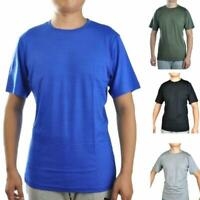 Mens 100% Cotton Outdoor Sports T Shirt Lightweight Athletics Basic Tee Leisure
