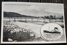 NYK Nippon Yusen Kaisha SS Suwa Maru Mount Fuji Suruga Postcard Unused Japan