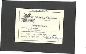 Zwingerschutzkarte Dackel Dachshund Teckel von der Laurach Vallendar Jesingen AK