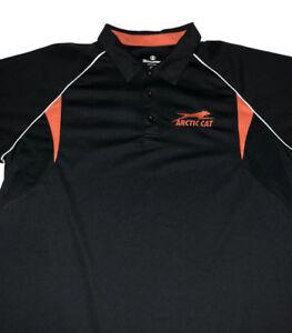Arctic Cat Holloway Polo Shirt Sz 2x Snowmobile Snow Machine Black Orange Top