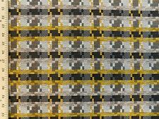 Designtex Houndstooth Plaid Ochre Geometric Heavy Jacquard Upholstery Fabric
