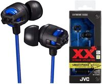 JVC HA-FX103M BLUE Xtreme Xplosives In-Ear Sweat Proof Headphones / Brand New