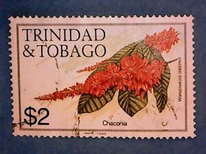 Trinidad & Tobago. QE2 1989 $2 Flowers. SG698. Wmk Ww16. P14. Used.