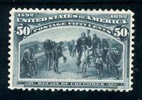 USAstamps Unused VF US 1893 Columbian Expo Recall Of Columbus Scott 240 OG MLH