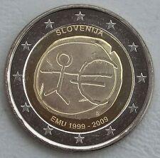 """2 Euro Slowenien 2009 """"10 Jahre WWU"""" unz"""