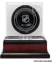 Philadelphia Flyers Mahogany Hockey Puck Logo Display Case