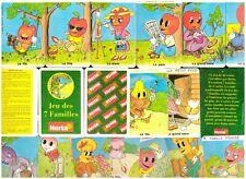 Rare COLLECTOR JEU DE CARTE des 7 FAMILLES PUZZLE Publicitaire HERTA 1996 - NEUF
