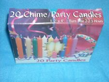 "Angel Chime Party Candles, 1/2"" Diameter x 4"" Tall, 20 in New Box, Ivory"