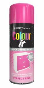 400ml Colour It Perfect Pink Gloss Spray Household Car Van Bike Aerosol Paint