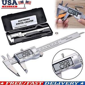 Stainless Steel Digital Caliper Vernier Micrometer Electronic Ruler Gauge Meter