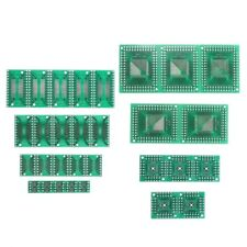 30x PCB Board Kit SMD To DIP Adapter Converter FQFP32-100 QFN48 SOP8 16/24/28