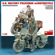 MINIART 1/35 U.S. MOTORCYCLE HARLEY DAVIDSON WLA W/RIDER MODEL KIT 35168