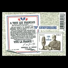 France 2010 - 70th Anniversary of the Appeal of 18th June 1940 s/s - Sc 3868 MNH