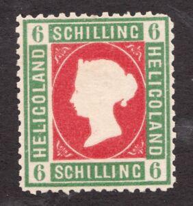 Heligoland - 6 Schilling - 1870's *model - Embossed Queen Victoria - Superfleas