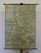 Schulwandkarte Der Lebensweg Jesu copyright von 1933 106 Punkte Legende 78x109cm