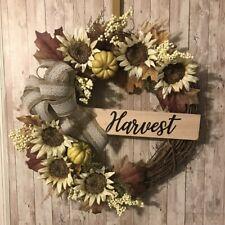 Handmade Fall Harvest Wreath | Grapevine Front Door Wreath