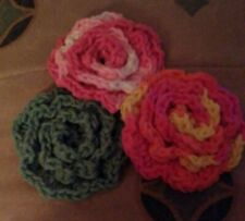 New listing Crochet Rose Face Scrubbies