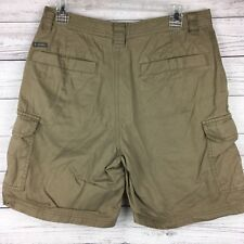 Columbia Brown Cargo Shorts 100% Cotton Metal Button Zipper Fly Men's 32