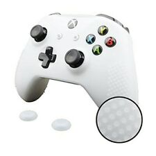 Xbox One X S Slim Controller Silicone GRIP Cover + 1 Pair Thumbgrips Set WHITE