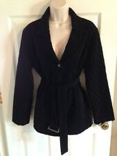 Chico's Travelers Black Quilted Button Front Blazer Jacket, Size 2 (L/12)